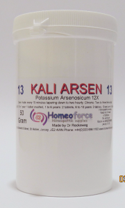 #13 KALI ARS Tissue (cell) salt SOFT TABLETS