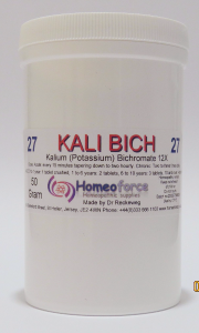 #27 KALI BICH Tissue (cell) salt SOFT TABLETS