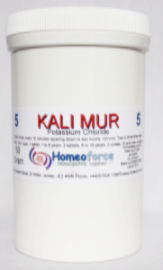 #5 KALI MUR Tissue (cell ) salt  SOFT TABLETS