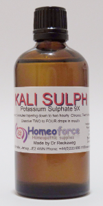 #7 KALI SULPH Tissue (cell) salt LACTOSE FREE DROPS