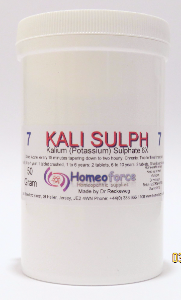 #7 KALI SULPH Tissue (cell) salt SOFT TABLETS